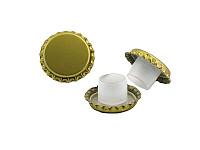 Kronenkork d 29 mit Bidule -gold
