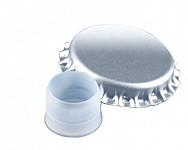 Kronenkork d 29 mit Bidule  - silber