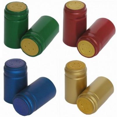 Anschrumpfkapseln für Wein-flaschen PVC (100 Stk)