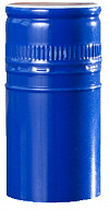 Schraubverschlüssen mit Sicherungsring - blau