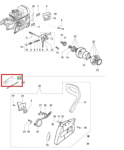 Kettensägeblatt OM – 52 cm 3/8
