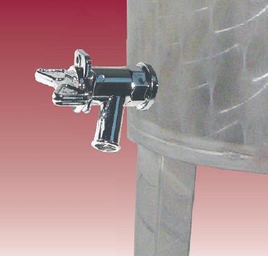 Abflusshahn für Inox-Fass
