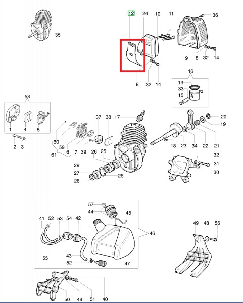 Auspuffdichtung Sparta 25 TR